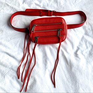 Rebecca Minkoff Red Pebbled Leather Belt Bag